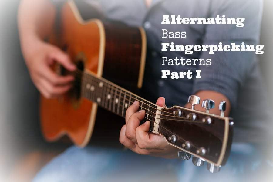 Alternating bass fingerpicking patterns Part I