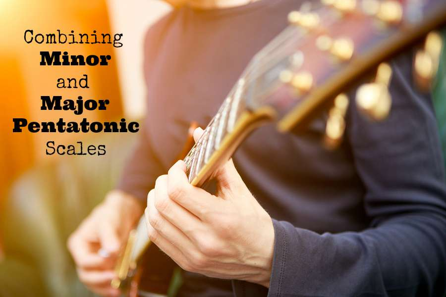 Combining minor and major pentatonic scales