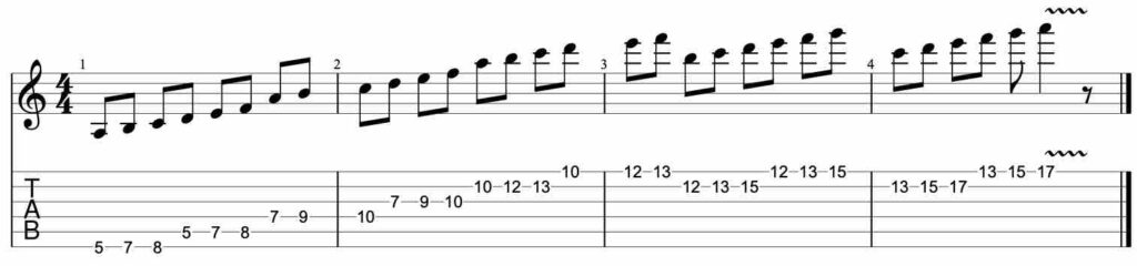 Speed building guitar lick exercise #1