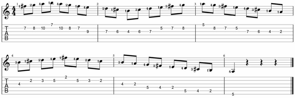 Speed building guitar lick exercise #3