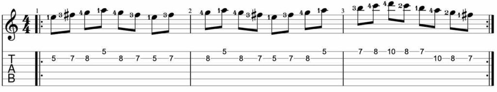 Speed building guitar lick exercise #2