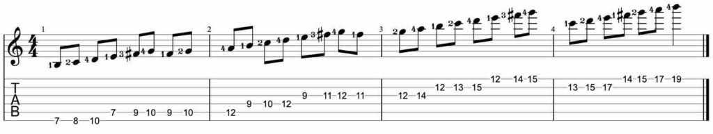 Speed building guitar lick exercise #5