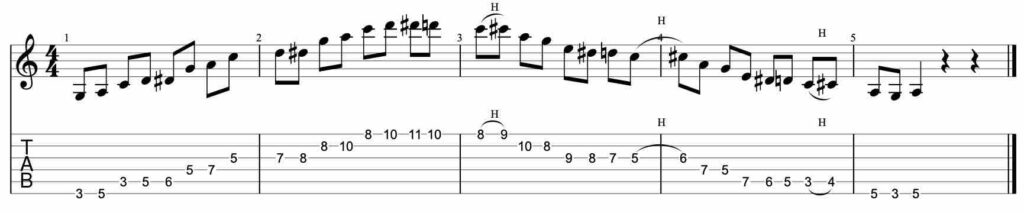 Speed building guitar lick exercise #4