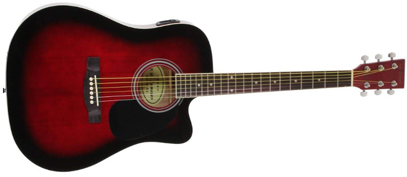 Jameson Acoustic Electric Cutaway Guitar