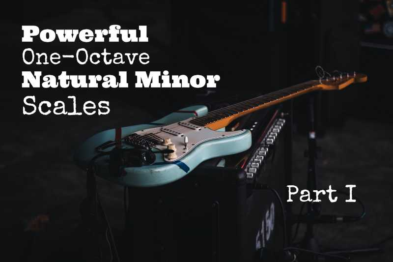 One-Octave-Natural-Minor-Scales - A natural minor scale - Part-I