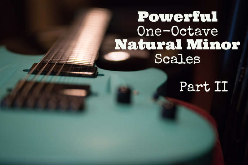 A Natural Minor Scales - One Octave Patterns