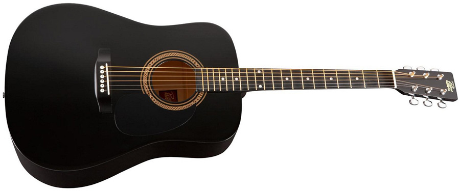 Rogue RA-090 Dreadnought Acoustic Low-Price Black Guitar