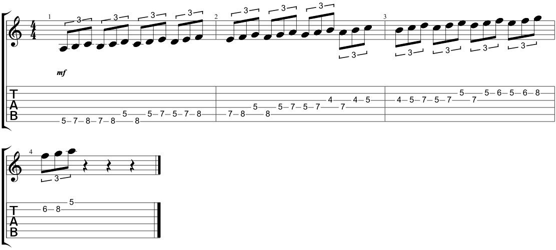 triplet minor scale sequences