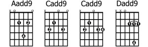 Aadd9 Cadd9 Dadd9