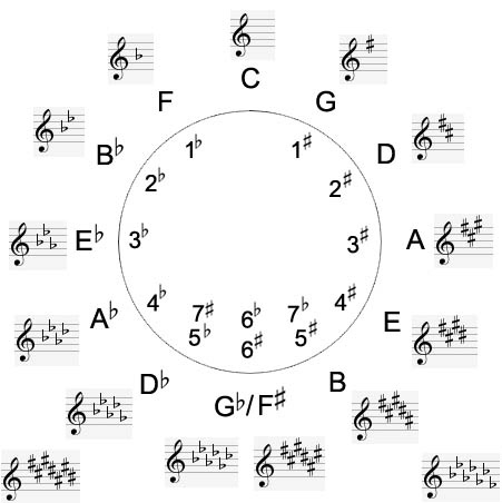 How To Benefit From The Circle Of Fifths And Fourths Guitarhabits