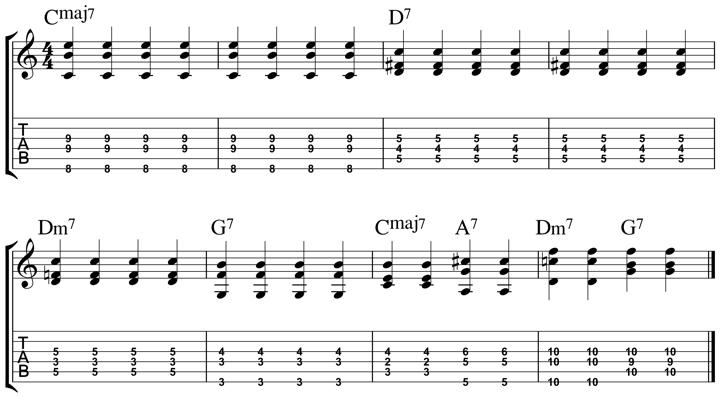 easy jazz chord 12