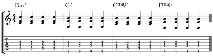easy jazz chord 7