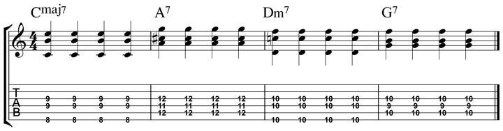 easy jazz chord 8