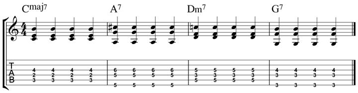 easy jazz chord 9