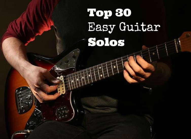 Top 30 Easy Guitar Solos Guitarhabits